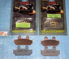 4 plaquettes de frein SEMC BREMBO Honda 650 AFRICA TWIN CBR VFR 750 600 TRANSALP