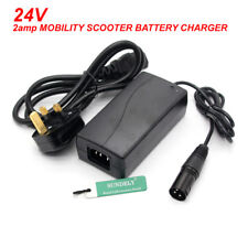 BRAND NEW 24V 2AMP MOBILITY SCOOTER BATTERY CHARGER FOR PRIDE ELITE TRAVELLER UK