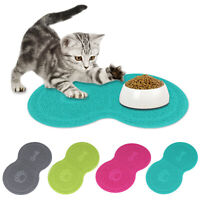 Pet Puppy Cat Feeding Mat Cute-PVC Bed Dish Bowl Food Feed Placement Tool