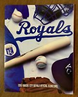 1996 Kansas City Royals Official Scorecard (vs Baltimore Orioles)