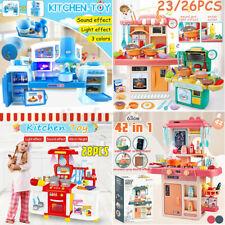 Kids Children Kitchen Toy Role Play Pretend Cook Set Toy Gift Light & Sound