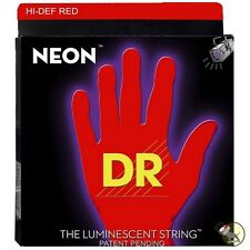 DR Strings K3 NEON Hi-Def RED BASS NRB6-30 30-125 Six String Set