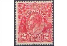 Australia 1931 2d RED KGV CofA Wmk Very Fine Used (CTO with gum) SG 127, CV $8