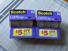 Scotch Gift Wrap Tape 3M Lot Of Two 3 Rolls Each 3/4