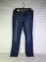Old Navy Womens Size 8 Regula Rock Star Super Skinny Jeans Denim Blue Star Print