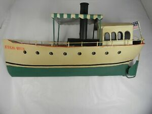 African Queen Tin Toy Boat