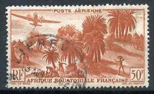 TIMBRE COLONIES FRANCAISES AFRIQUE EQUATORIALE OBLITERE PA N° 50 AVIATION