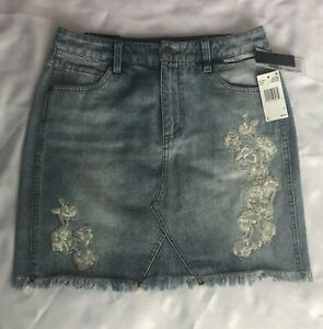 Buffalo Embroidered Denim Skirt. Size W27. New With Tags!