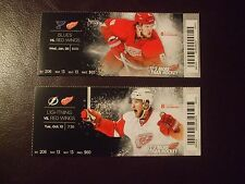2016 Detroit Red Wings tickets (2) JUSTIN ABDELKADER VGC L@@K!
