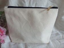 10x Eco Custom Blank Canvas Makeup bag DIY Wallet clutch bag Pencil Case Pouch