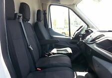2+1 Schwarz LUXUS Sitzbezüge Tischbezug Passgenau für Ford Transit Custom 2013+
