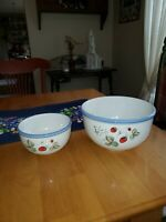 "Savoir Vivre Lucious JJ017 Nesting Mixing Bowls Set of Two 3.5""×6"" and 5""× 8.5"""