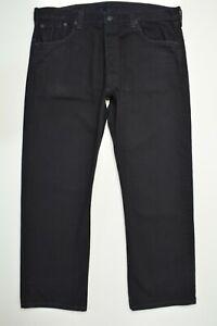 Levi's 501 Size 40 x 30 Mens BLACK Denim STRAIGHT Leg Classic BUTTON FLY Jeans
