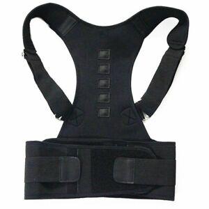 Back Straightener Magnetic Corrector Brace Supporter Shoulder Therapy Posture
