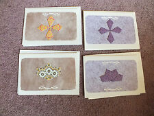 4 Unique Handmade Teabag Folded Blank Note Greeting Cards CUTE