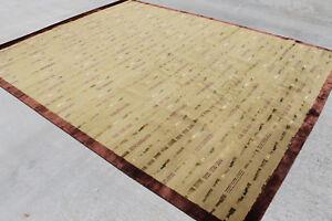 R54 Gorgeous Contemporary Tibetan Wool/silk Area Rug 8' x 10' Handmade in Nepal