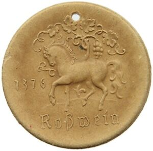 GERMANY DDR PAPER MEDAL ROSSWEIN 1955 40MM #alb60 231