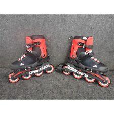 Rollerblade 07957200741 Microblade Kids Skates, Black/Red 2-5 Us, Missing Brake