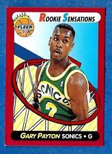 1991-92 Fleer Rookie Sensations GARY PAYTON (ex) Seattle
