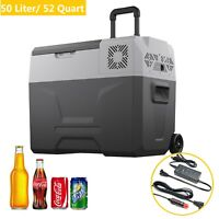 52 Quart Portable Refrigerator/Freezer Compact Vehicle Car Mini Fridge Electric