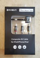10 x Composite AV Cable to TV RCA Connection Kit iPod iPad 2/3, iPhone 4/4S 3GS