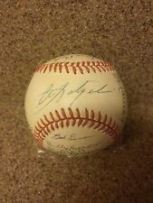 21 BASEBALL HALL OF FAMERS SIGNATURES BALL W/CERTIFICATE OF AUTHENTICITY