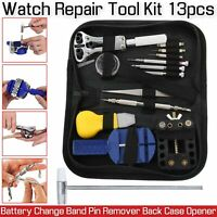 13 Pcs Watch Band Case Remover Opener Holder Wrench Screwdriver Repair Tool Kit