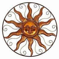"DeJon Colorful Metal Wall Art Decor Celestial Sun Moon 23/"" Wide 63131"