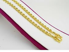Necklace Jewelry 18 inch 15 Grams 4 mm Chain 22K 23K 24K Thai Yellow Gold Plated