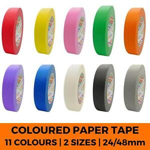 Coloured Paper Tape -  Masking Parcel Packing Crafts Art DIY Paint Adhesive