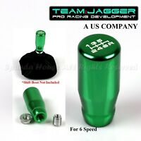 FOR JPN CAR! M10 THREADED! USA WHITE 6-SPEED LONG MANUAL GEAR SHIFT KNOB GREEN