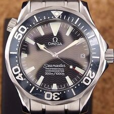 Authentic Omega Seamaster Professional 300M Wave Dial Automatic Mens Wrist Watch