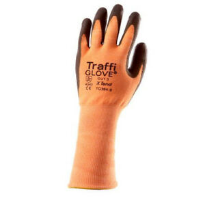 TRAFFI GLOVES X-TEND TG384 longer length cuff for added protection work gloves