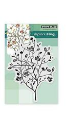 New Cling Penny Black RUBBER STAMP  A DAY IN AUTUMN TREE FALL free us ship