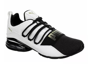 PUMA MENS CELL REGULATE COMFY MESH RUNNING ATHLETIC SHOE NEW WHITE BLACK  .