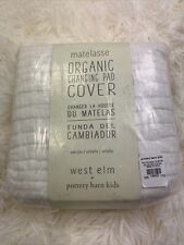 Pottery Barn Kids, West Elm, Matelasse Organic Changing Pad Cover White New
