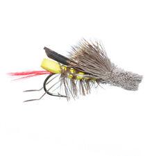 Dave's Hopper Yellow Foam Body Grasshopper Fishing Fly Hook Size 12