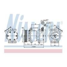 Fits Renault Megane MK2 1.5 dCi Genuine Nissens A/C Air Con Compressor