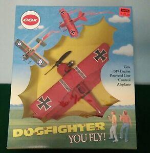 1990 Cox Dogfighter Fokker Triplane Model Airplane w/.049 Engine & Sealed Box