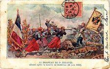 CPA Militaire,  Le Drapeau du 2 Zouaves (278537)