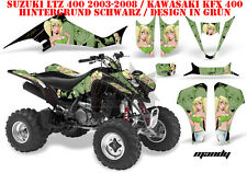 AMR RACING DEKOR GRAPHIC KIT ATV SUZUKI LTZ & KAWASAKI KFX MANDY B