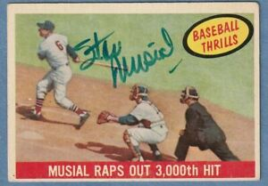 1959 Topps St. Louis Cardinals Stan Musial Signed Autographed Card #470