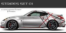 Stripes Aufkleber Set 01 Tuning Muster Design JDM Style Streifen Linien
