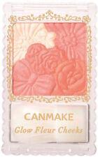 Japan Famous Canmake Tokyo Glow Fleur Cheeks Flower Blush Powder Fuchsia Berry 01 Peach Fluer