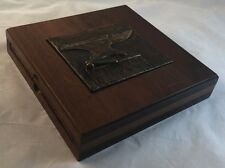 Signed Texas Sculptor Clay Dahlberg 6/50 Sculpture Bronze Anvil Wooden Slipcase