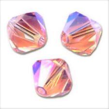 25 Perles Toupies 4mm Cristal de Swarovski - ROSE AB2X - 5328 XILION