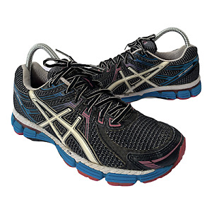 ASICS GT-2000 T2K7N Women's Size 8 Black  Pink Athletic Running Shoes Sneakers