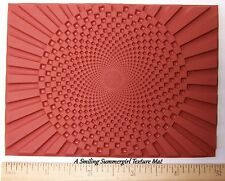 RUBBER Texture Art Stamp Deep Etched Molding Mat for Polymer PMC Paper Clay
