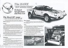 Prospekt Hawk HF 2000 3000 specifications price list 2000 GB brochure Auto PKWs
