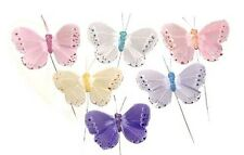 "Artificial Fake Butterfly 3"" 24 Butterflies Party Decoration BF776 New"